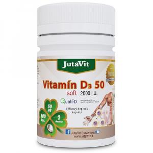 JUTAVIT Vitamín D3 50 µg soft 2000IU 100 kapsúl