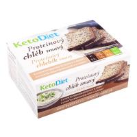 KETODIET Proteínový chlieb tmavý 7 porcií