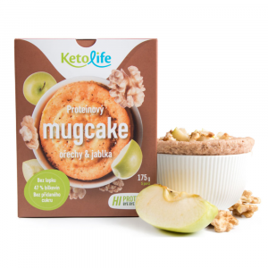 KETOLIFE Proteínový mugcake orechy a jablká 175 g