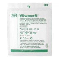 Kompresia Vliwasoft sterilné 7.5x7.5cm / 4v 2 ks