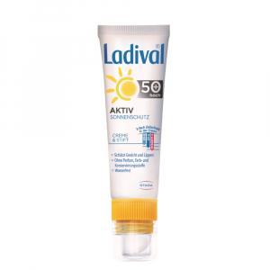 LADIVAL AKTIV na tvár a pery SPF 50+ krém 30 ml a tyčinka 3,2 g 2v1