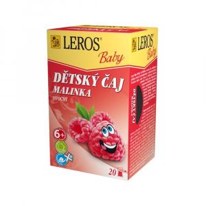LEROS BABY Detský čaj Malinka 20x2 g