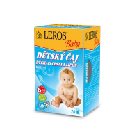 LEROS BABY Detský čaj na dýchacie cesty s lipou 20 nálevových vrecúšok