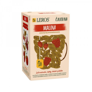 LEROS Čajovňa Malina ovocný čaj 20 vrecúšok