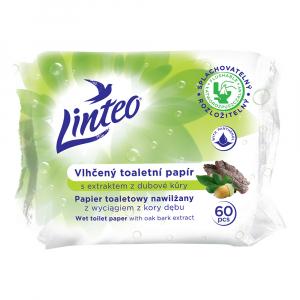 LINTEO Vlhčený toaletný papier s extraktom z dubovej kôry 60 ks