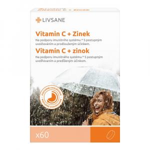 LIVSANE Vitamín C + Zinok s postupným uvoľňovaním 60 tabliet