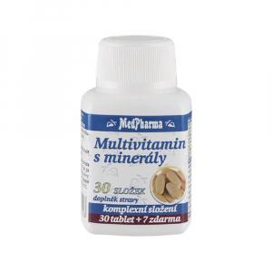 MEDPHARMA Multivitamín s minerálmi 30 zložiek 37 tabliet