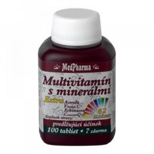 MEDPHARMA Multivitamín s minerálmi 42 zložiek, extra C + Q10 107 tabliet
