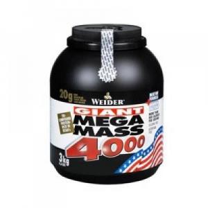 Mega Mass 4000, Gainer, Weider, 3000 g - Čokoláda