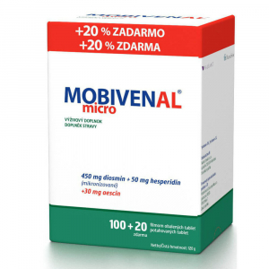 MOBIVENAL micro 100+ 20 tabliet ZADARMO