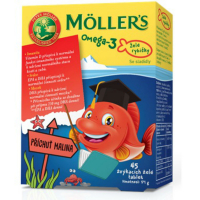 MÖLLERS Omega 3 želé rybičky 45 ks