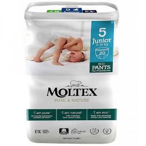 MOLTEX Pure & Nature Junior Naťahovacie plienkové nohavičky 9 -14 kg 20 ks