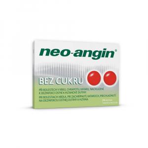 NEO-ANGIN Bez cukru tvrdé pastilky 24 kusov