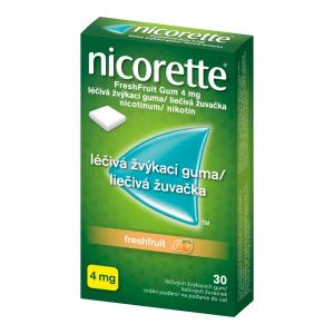 NICORETTE Freshfruit Gum 4 mg 30 liečivých žuvačiek