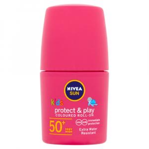 NIVEA Sun Protect&Care Detské farebné mlieko na opaľovanie v guličke OF 50+ ružová  50 ml