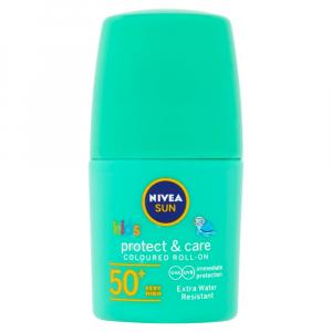 NIVEA Sun Protect&Care Detské farebné mlieko na opaľovanie v guličke OF 50+ zelené  50 ml
