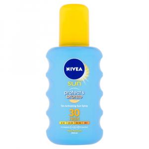NIVEA Sun Sprej na opaľovanie podporujúci zhnednutie Protect & Bronze OF 30 200 ml