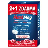 ZDROVIT MaxiMag 375mg + vitamín B6 3x20 šumivých tabliet 2+1 zadarmo