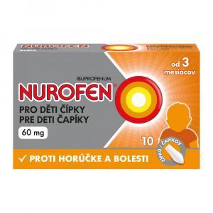 NUROFEN pre deti 60 mg 10 čapíkov