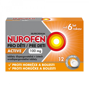 NUROFEN pre deti Active 100 mg 12 orodispergovateľných tabliet