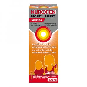 NUROFEN pre deti Jahoda perorálna suspenzia 200 ml