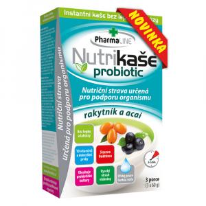 PHARMALINE Nutrikaša probiotic Rakytník a acai 3 x 60 g