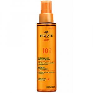 NUXE SUN Bronzujúci olej SPF 10 tvár a telo 150 ml