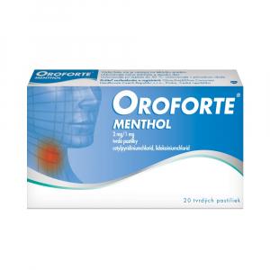 Oroforte menthol pas ord 1 x 20 ks.