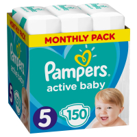 PAMPERS Active Baby-Dry 5 JUNIOR 11-16 kg 150 kusov