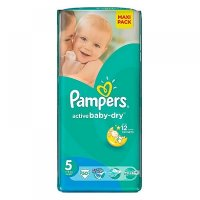 PAMPERS Active Baby-Dry 5 JUNIOR 11-18 kg 50 kusov
