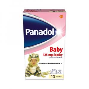 PANADOL BABY sup 125 mg 10 čapíkov