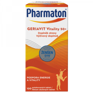 PHARMATON GERIAVIT Vitality 50+ tablety 100 kusov