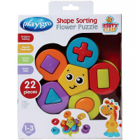PLAYGRO Skladacie puzzle kvet s tvarmi