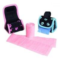 Puzdro nylon čierno-ružový + sáčky KAR 2x20 ks