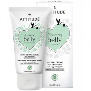 ATTITUDE Blooming Belly prírodný krém na unavené nohy nielen pre tehotné s mätou 150 ml