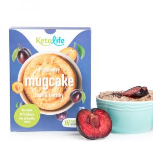KETOLIFE Proteínový mugcake mak a slivky 175 g