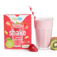 KETOLIFE Proteínový shake jahoda a príchuť kiwi 150 g