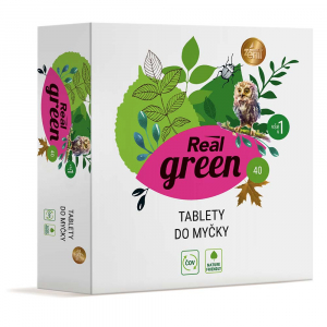 REAL GREEN CLEAN Tablety do umývačky 40 ks