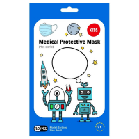 MEDICAL Jednorazové detské tvárové rúško 10 kusov, modré