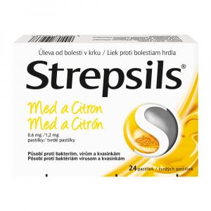 STREPSILS Med a Citrón 24 pastiliek