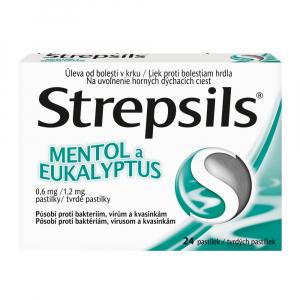 STREPSILS Mentol a Eukalyptus 24 pastiliek