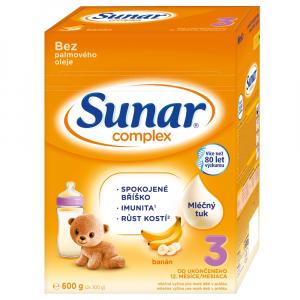 SUNAR Complex 3 Banán Pokračovacie batoľacie mlieko od 12. mesiacov 600 g