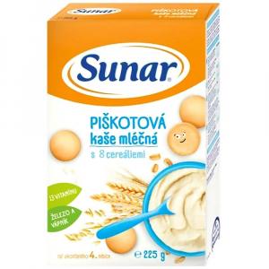 SUNAR Kašička piškótová mliečna 225 g