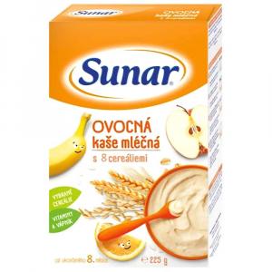 SUNÁREK Kašička mliečna multicereálna Ovocná 225 g