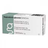 SUPPOSITORIA  GLYCERINI SANOVA 1G 5KS (ČAPÍKY)