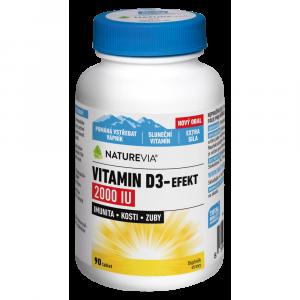 SWISS NATUREVIA Vitamín D3-Efekt 2000I.U. 90 tabliet