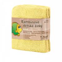 T-TOMI Bambusové detské žinky Žlté 4 kusy