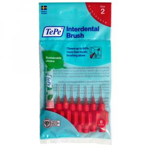 TEPE Medzizubné kefky červené 0,5 mm 8 ks