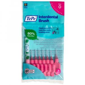 TEPE Medzizubné kefky ružové 0,4 mm 8 ks