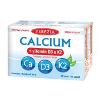 TEREZIA CALCIUM + vitamín D3 a K2 30 kapsúl